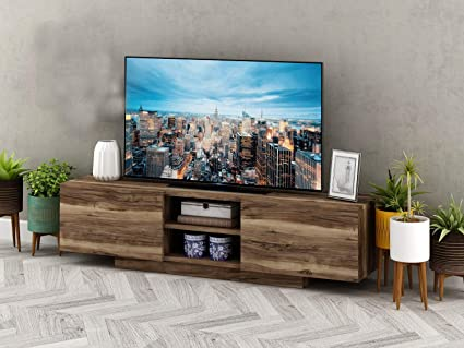 innovative design 4f832 6310d Prestige Decor TV Stand, TV Stands for Flat Screens, TV Stand for 55 inch  TV Compatible with 70, 65, 60, 55, 50, 42, 40, 32 inch tv. TV Stand Brown,  ...
