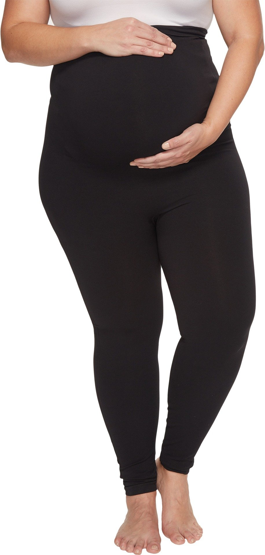 SPANX Women's Plus Size Mama Look at Me Now Leggings Very Black 1X