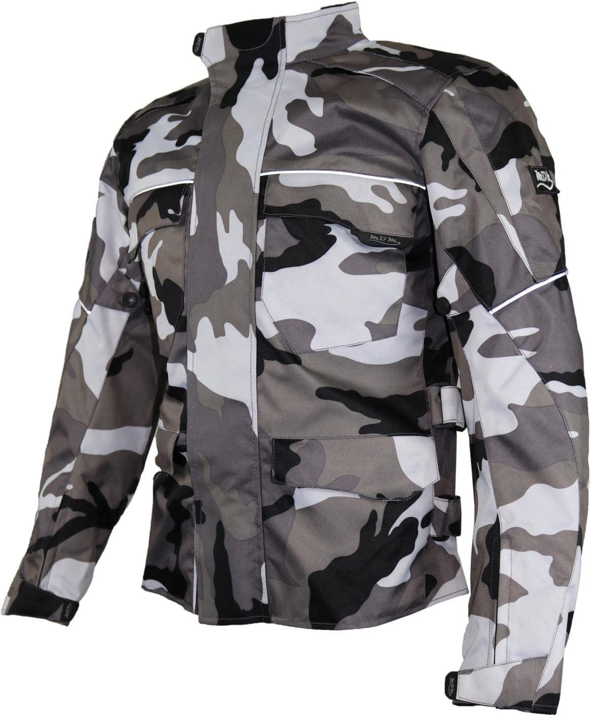 3XL MDM Motorrad Textil Jacke Motorradjacke Racing Wasserdicht Schutzjacke Sommer Camo Camouflage