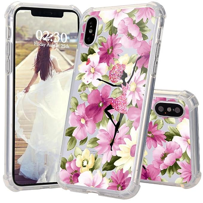 Amazon.com: iPhone X Caso, jexicase Flor Floral Mariposa ...