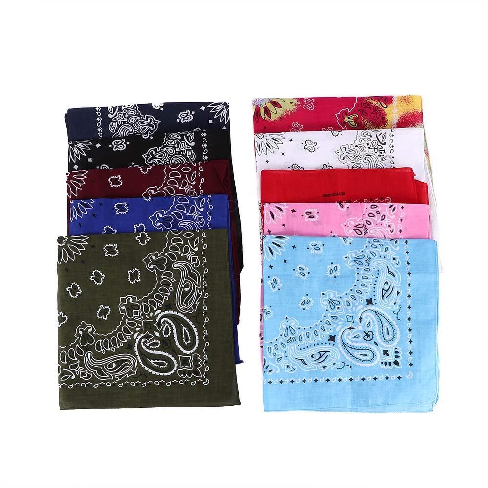 1Pc Cotton Hip Hop Paisley Bandana Square Scarf Head Wrap Band Halsband Taschentuch F/ür Extreme Sports Women Men 55cm *55cm