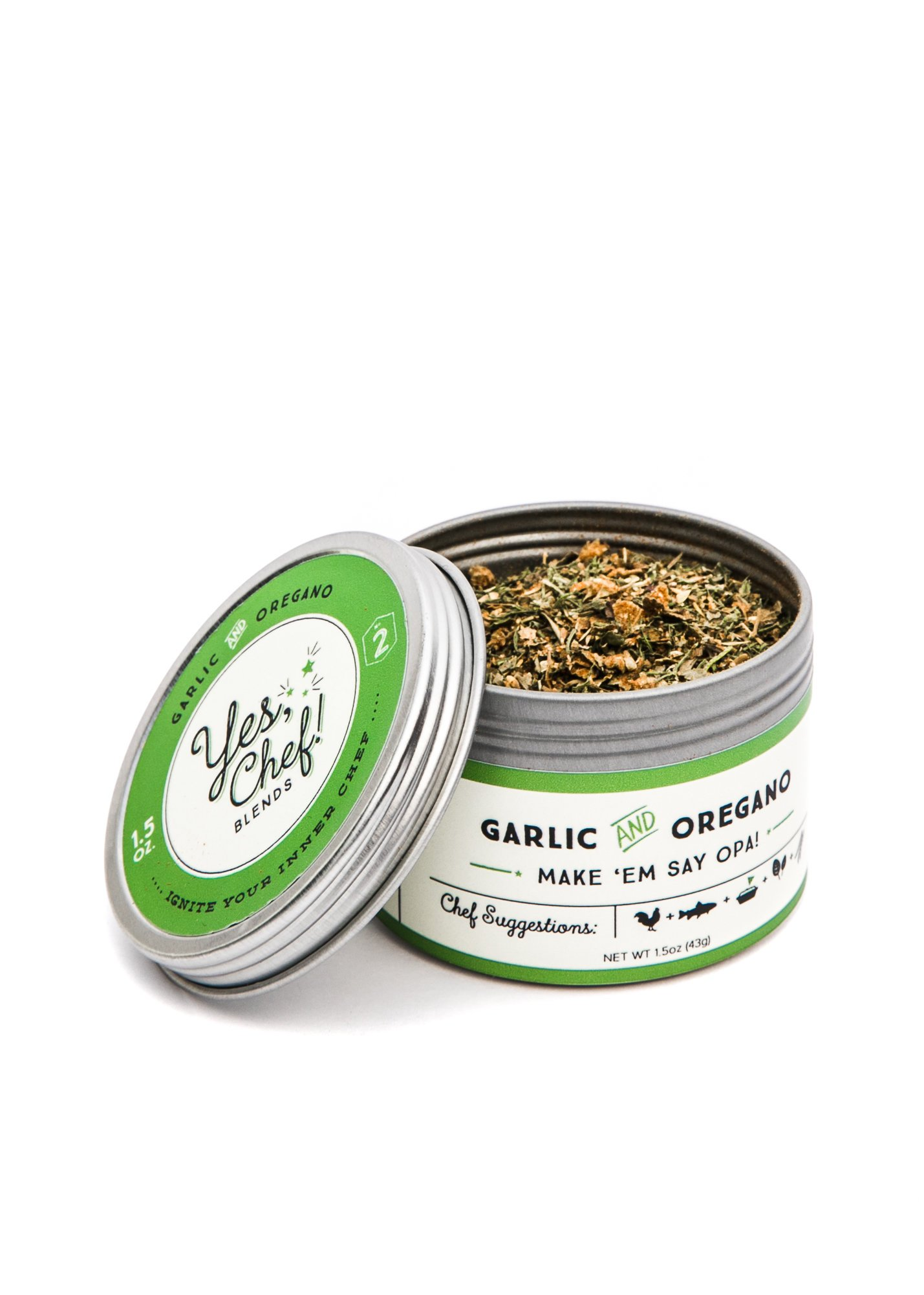 #1 Spice Blend - Make 'Em Say Opa! Greek Seasoning - Sugar + Salt Free (4 Pack) by Yes, Chef! Blends