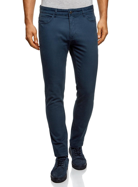 oodji Ultra Uomo Pantaloni in Cotone Slim Fit RIFICZECH s.r.o. 2B120008M