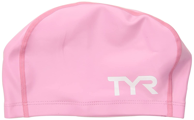 TYR Long Hair Silicone Comfort Swim Cap Black One Size LSCCAPLH 420