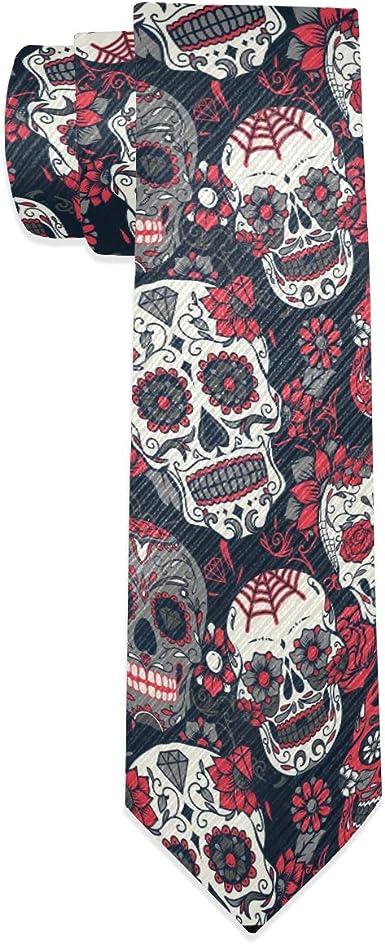 Wamika Sugar Skull - Corbata para hombre, diseño de calavera ...