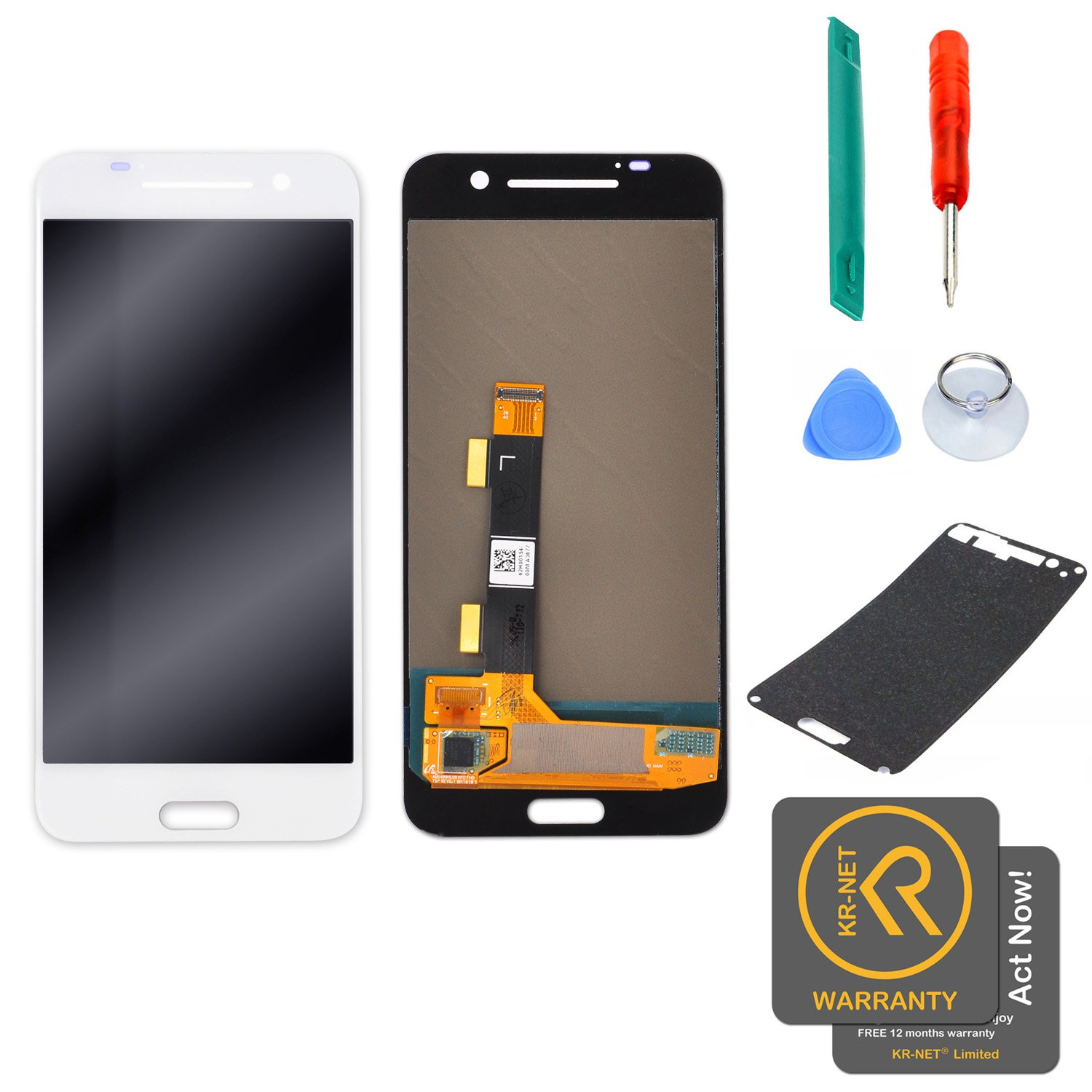 KR-NET Display LCD Touch Screen Digitizer Assembly Replacement for HTC One A9 w/Repair Tools (White)