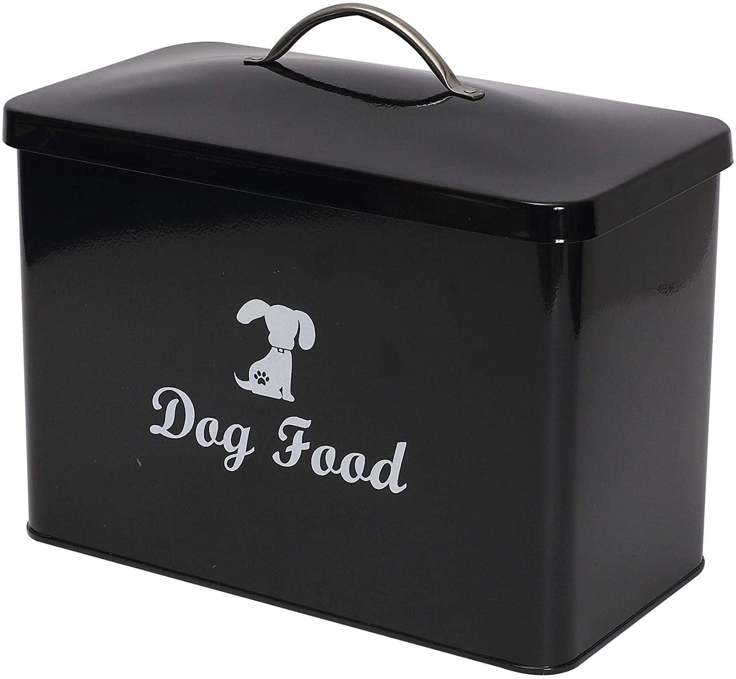 Geyecete Dog Food Dog Container Treat Storage Tin with Lid and Spoon-Countertop Space-Saving Dog Treat jar pet Food Container