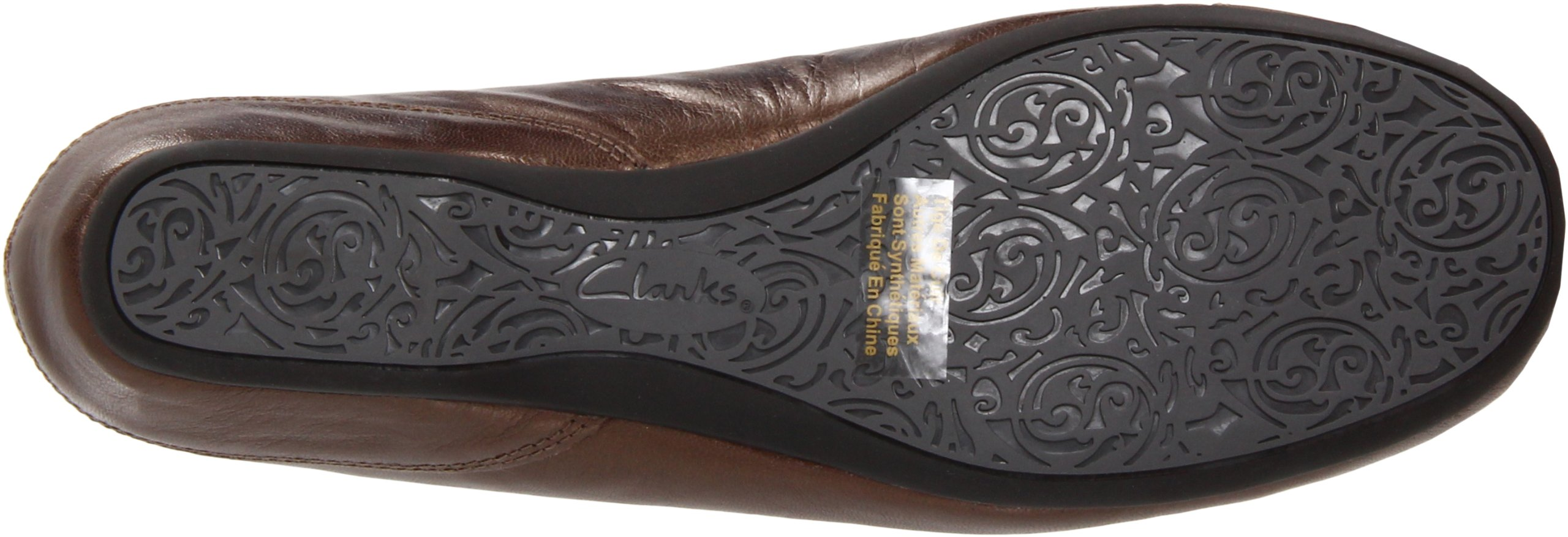 Clarks Women's Concert Choir Dress Shoes,Brown Metallic Leather,5 M US by CLARKS (Image #3)