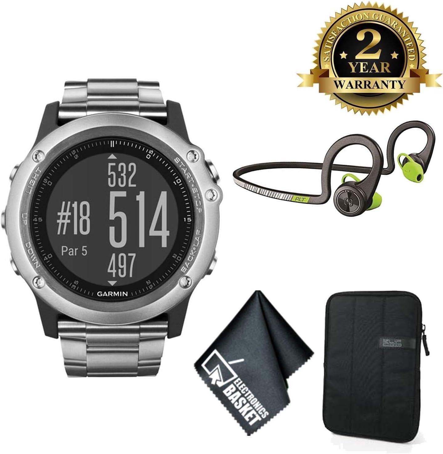Garmin Fenix 3 サファイア マルチスポーツ トレーニング GPSウォッチ (チタンバンド付きチタン) ベーシックアクセサリーセット  Basic