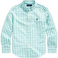 POLO RALPH LAUREN Boys Plaid Cotton Poplin Button Down Shirt
