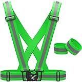 247 Viz Reflective Vest with Hi Vis Bands, Fully Adjustable & Multi-Purpose: Running, Cycling, Motorcycle Safety, Dog Walking