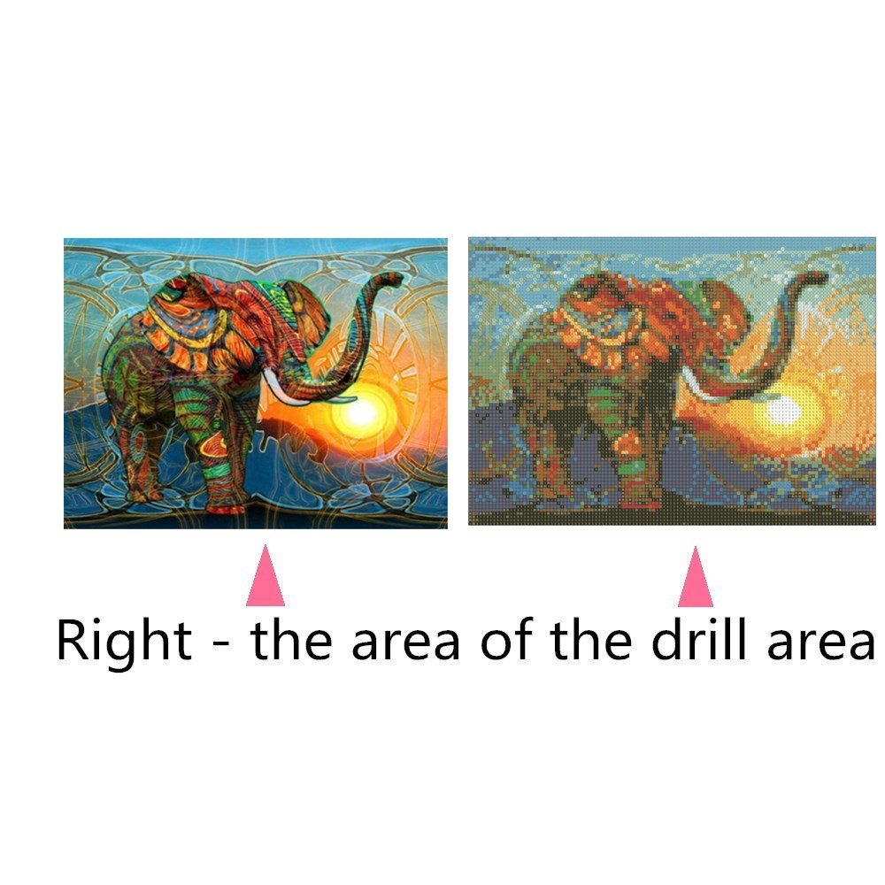 Elephant 032 Soffette 5D Diamond Painting By Number Kits New Full Drill DIY Diamond Painting Kit For Adults Cross Stitch Full Toolkit Embroidery Arts Craft Picture Supplies Home Wall Decor