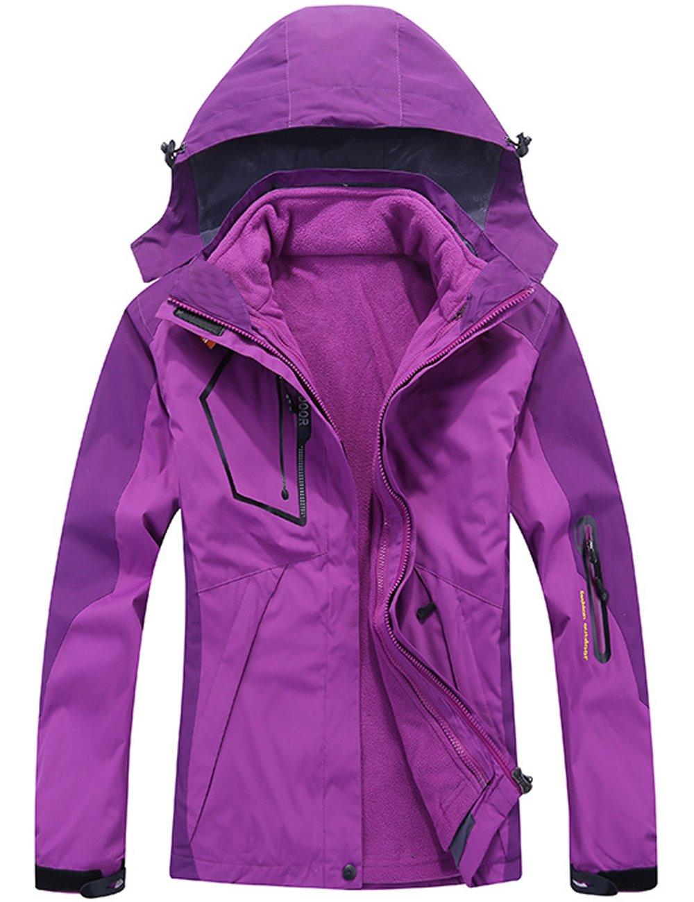CUKKE OUTERWEAR レディース B0785G8GFL L|Purple Nv1201 Purple Nv1201 L