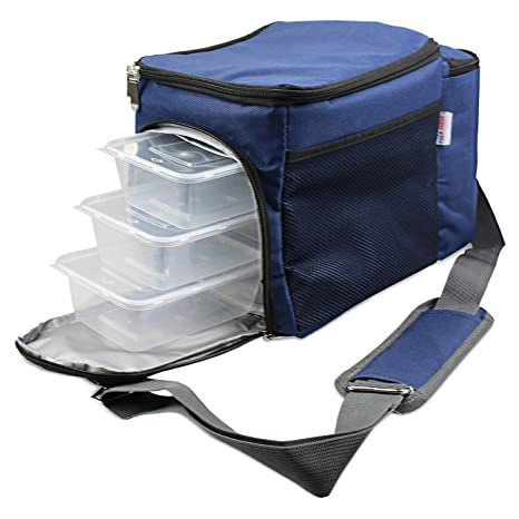 Amazon.com: Pack Ahead – Bolsa para comida Prep completo ...