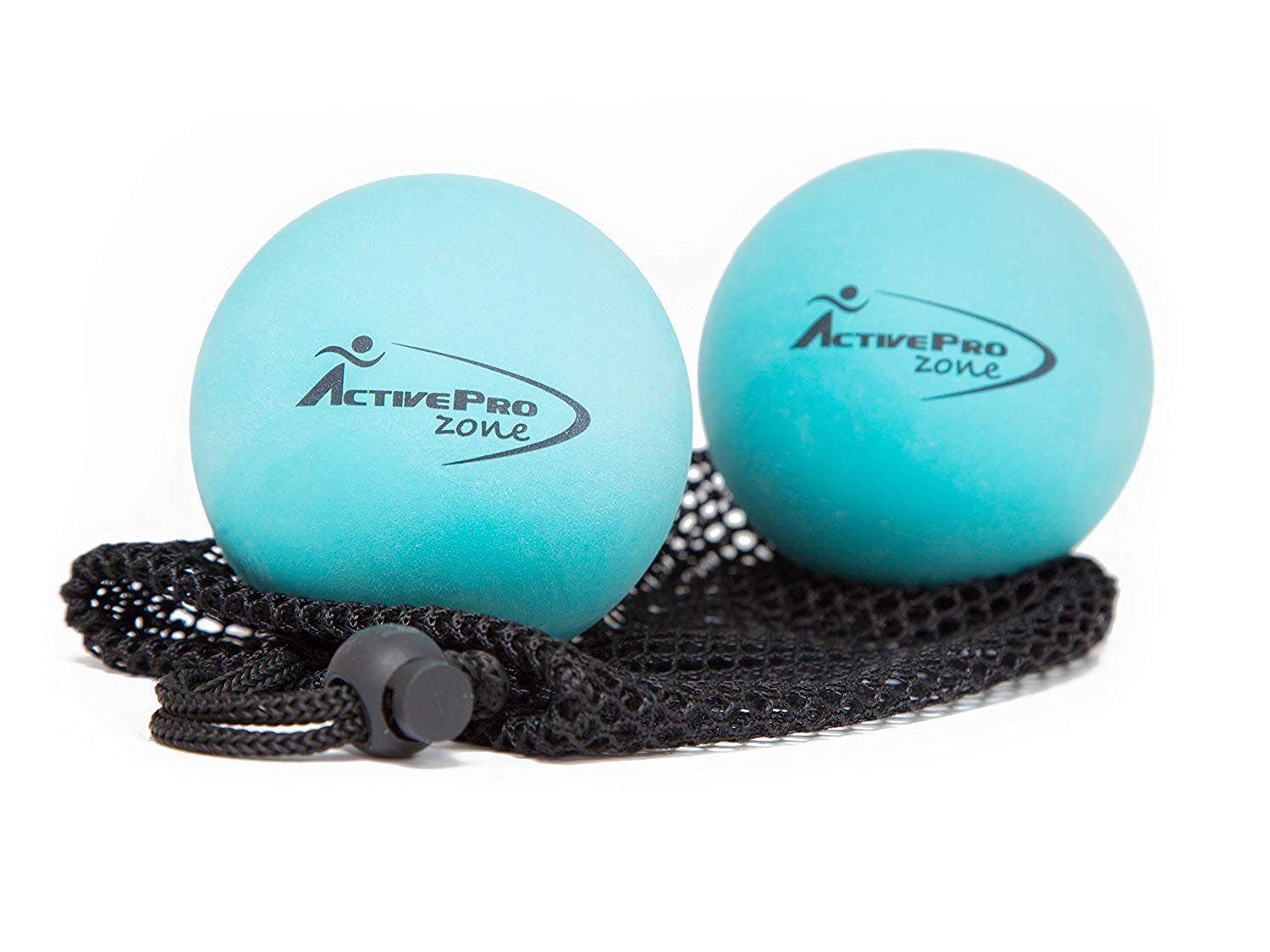 ActiveProZone Therapy Massage Ball - Instant Muscle Pain Relief. Proven Effective for Myofascial Release, Deep Tissue Pressure, Yoga & Trigger Point Treatments. Set - 2 Extra Firm Balls W/Mesh Bag