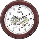 となりのトトロ キャラクター 掛け時計 アナログ トトロ M690A 木 茶 リズム時計 4KG690MA06