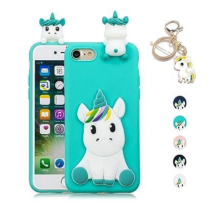 017096576a9 Kawaii-Shop Funda iPhone 6S Plus 6 Plus Silicona Cover, La luz Azul  Unicornio