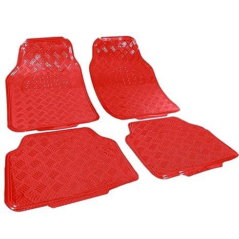 Auto Fußmatten Autoteppich Textil Matten 4-teilig Set Universal Pink AM7141