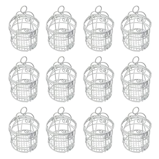 12 Jaulas Decorativas Pequeñas,Φ5.5x8cm,Color Blanco,Ideal ...