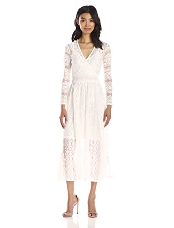 Lace overlay dresses white