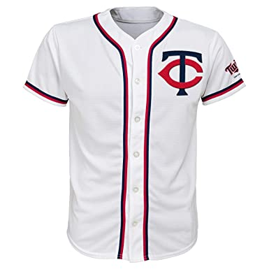 f70d391ec38 Outerstuff Minnesota Twins White Youth Team Apparel Home Jersey (X-Small 4 5