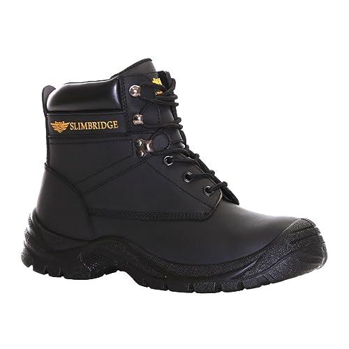 Slimbridge Velbert Botas de Seguridad de Acero Dedo del pie Tamaño 45, Negro