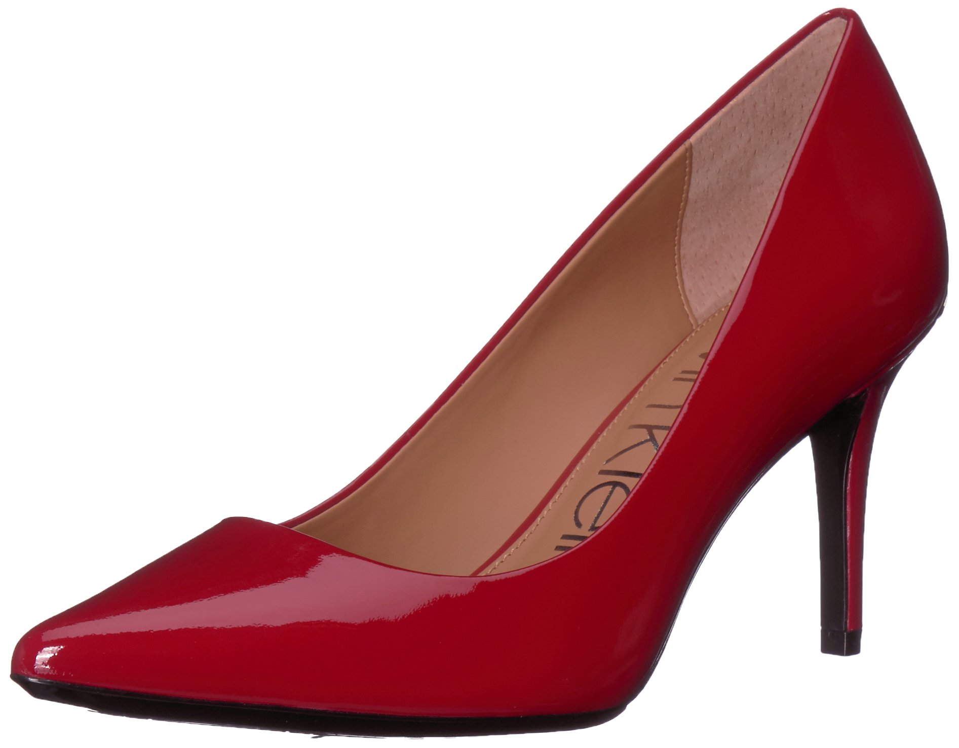 Calvin Klein Women's Gayle Pump, Crimson red, 9.5 Medium US