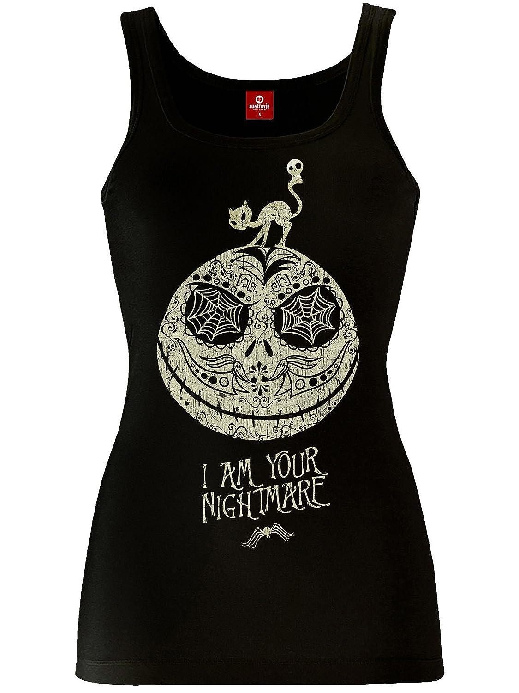 Débardeur L'Etrange Noël de Monsieur Jack Nightmare Lady coton noir - S