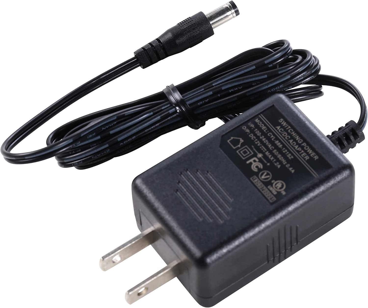 12vdc 1amp Switching Power Adapter Us Plug Available 5.5x2.1mm Connector With Ul-listed (pack Of 2) Home Audio & Theater