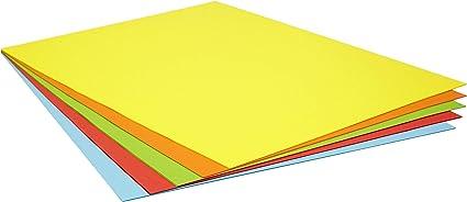 Pack 25 Cartulinas Colores Intensos Tamaño 50X65 180g: Amazon.es: Oficina y papelería