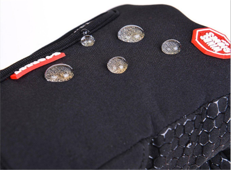 Waterproof Touchscreen Cycling Gloves Winter Warm Full Finger Outdoor Ski Snow Bike Women Men Adjustable Size Glove for Smart Phone,Black,M /Plam width:3.14in by HILEELANG (Image #7)