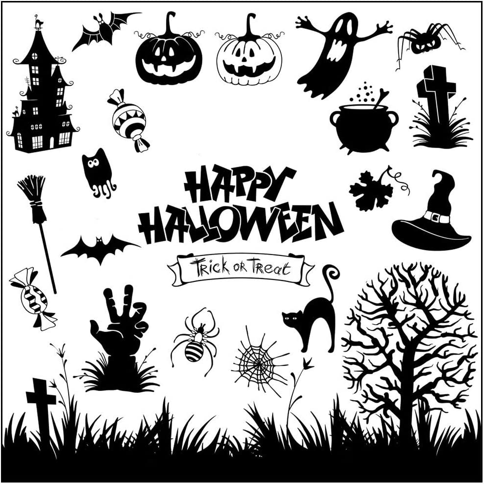 Happy Halloween Transparent for Stamp Rubber Clear Stamp//Seal Scrapbook//Photo Album Decorative Card Making Clear Stamps Best for Gifts