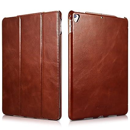 low priced c1da4 24f06 iPad Pro 12.9 Case, Icarercase Genuine Leather Case Folio Flip Smart Cover  Auto Wake/Sleep Function [Magnetic Closure] Kickstand for Apple iPad Pro ...