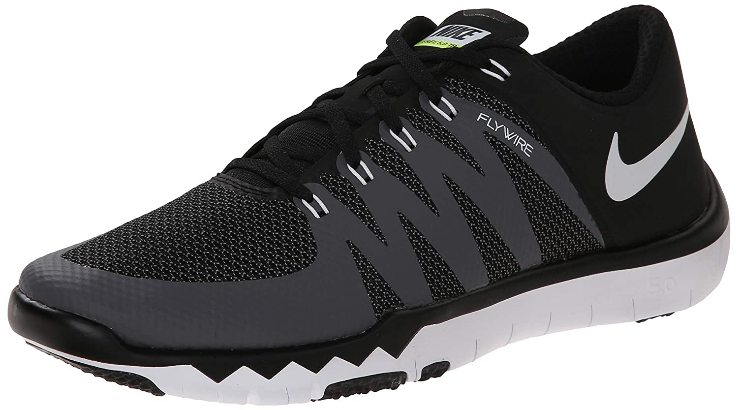pretty nice 34bb5 92036 Nike Men's Free Trainer 5.0 V6 Training Shoe Black/Dark Grey/Volt/White  Size 8 M US