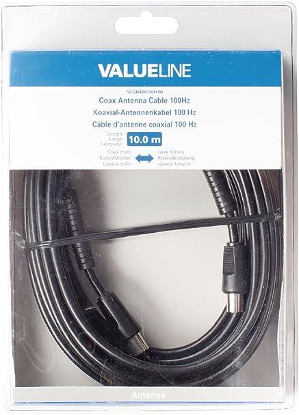VALUELINE Cable Antena TV DE 100DB: Amazon.es: Electrónica