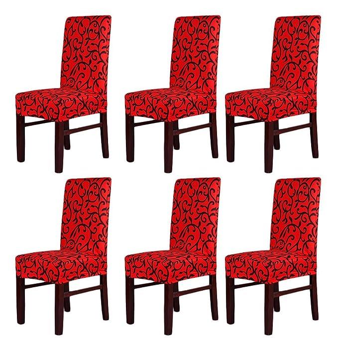 Pack de 6 fundas para sillas, lavables - Fundas de asiento para fiestas, banquetes, bodas.