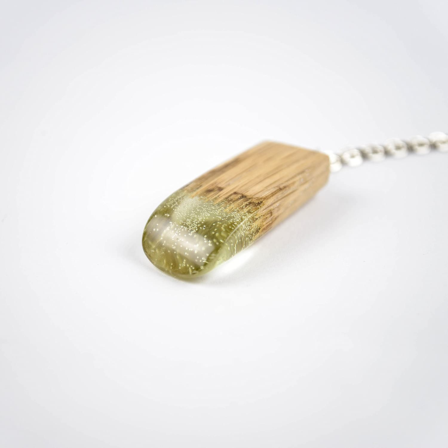 Wood Resin Pendant OKTIE Resin Pendant Wooden Pendant Green Pendant Eco-Friendly Jewelry Hand Made resin Jewelry