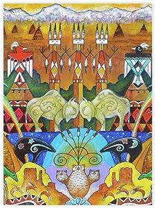 """yyone FamousSceneryWrappedCanvas Monument Valley On Canvas Modern Wall Art Decor Wooden Framed 16"""" X 20"""""""