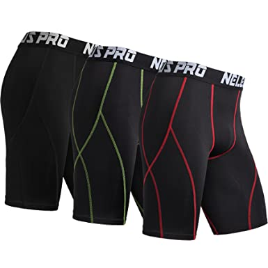 Amazon.com  Neleus Men s 3 Pack Sport Compression Shorts  Clothing 644788d35