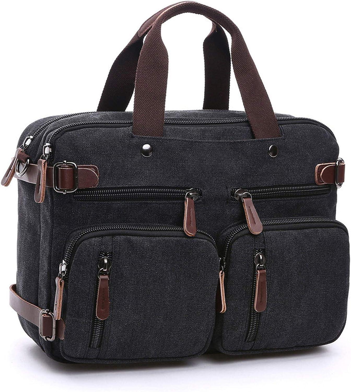 Canvas Travel Backpack Men Shoulder Bag Mochila Hombre,Coffee,Large