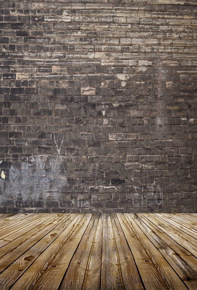 8x6.5ft Vintage Empty House Polyester Photography Background Crinkly Old Wallpaper Rustic Wooden Door Grunge Floor Backdrop Child Adult Pets Portrait Shoot Nostalgia Studio