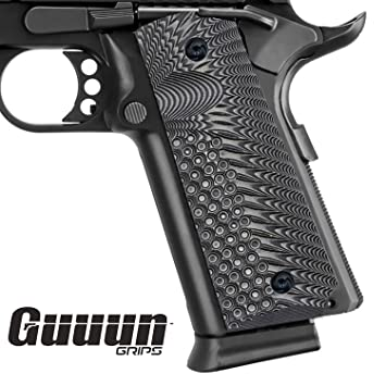 1911 Full Size Grips Government Commander Grips, Sunburst Texture G10 Grips  Ambi Safety Cut,fit Colt Kimber Sig Taurus Ruger SR1911 and more