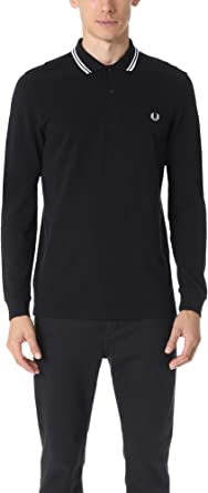 Fred Perry Fp LS Twin Tipped Camisa de Polo, Multicolor (Black/Porc/Porce 524), XXL para Hombre: Amazon.es: Ropa y accesorios