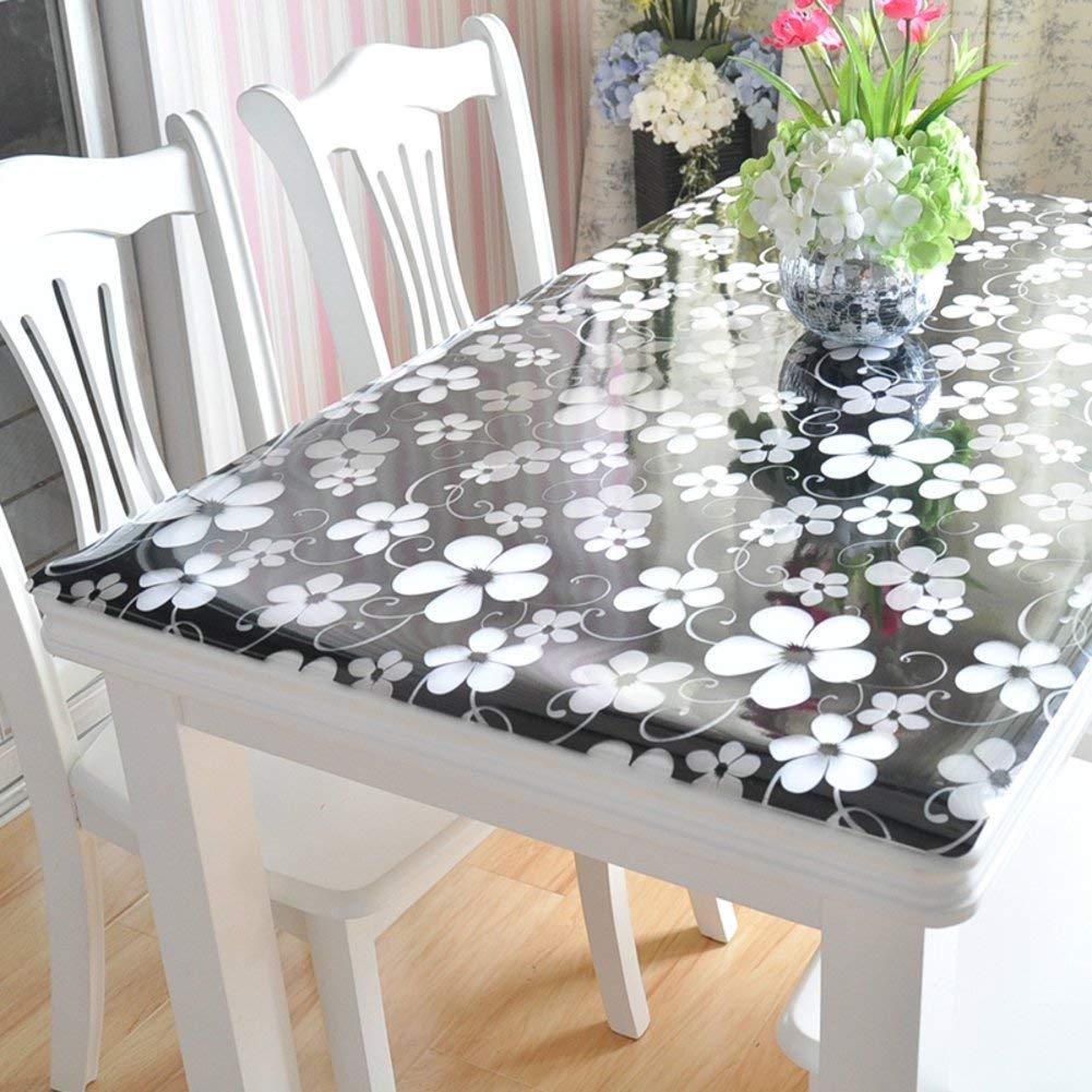 Shuangdeng ポリ塩化ビニールのテーブルクロス水およびオイルの証拠のテーブルクロス柔らかいガラスはテーブルクロスをつや消し (Color : K, サイズ : 24*24in) 24*24in K B07S662M1S