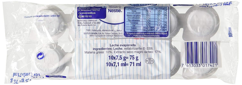Nestlé Ideal - Leche evaporada semidesnatada en porciones - Caja de leche evaporada 24 x 10 x 0.075 g: Amazon.es: Alimentación y bebidas