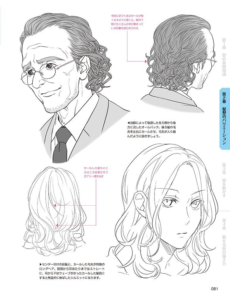 デジタルツールで描く! キャラクターを引き立てる髪の描き方