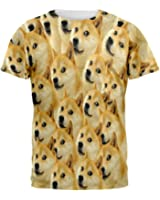 Doge Meme All Over Adult T-Shirt