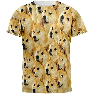 710YskeAreL._UX385_ amazon com doge meme all over adult t shirt clothing