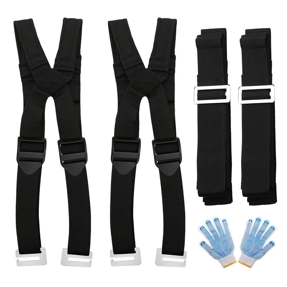 senbos Moving Straps,Lifting Straps,Resizable Design Suitable all People Painless Sponge Mats Shoulder Straps Easy Move Lift Carry and Secure Furniture Heavy Objects