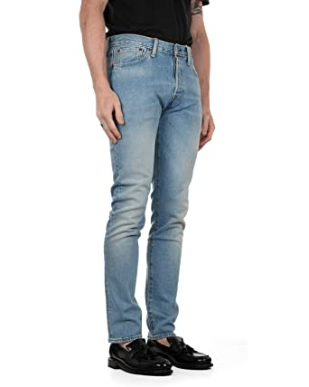 extrem einzigartig starke verpackung neues Konzept Levi's Mens 501 Skinny Fit Jeans in Light Blue- Button Fastening- Contrast